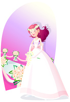 Representation of woman wearing tiara smiling