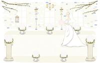 Illustration of Bride in Church, portrait