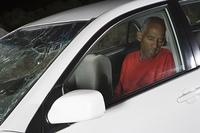 Unconscious victim of car accident