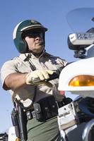 Police patrol motorcycle