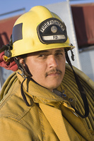 Portrait of a firefighter