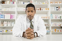 Male pharmacist portrait