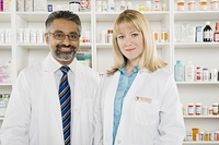 Two pharmacists portrait
