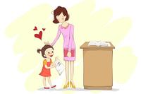 Girl holding classwork with 100 marks from teacher