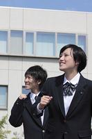笑顔で走る高校生