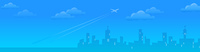 Cityskyline with Plane departing