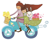 Boy and Girl on motorcycle