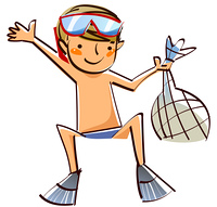 Close-up of boy wearing in swimsuit
