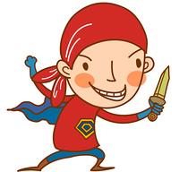 Close-up of boy holding knife