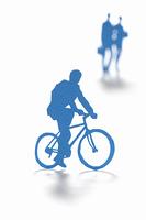 自転車に乗るビジネスマンのクラフト