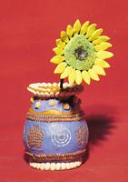 Sunflower in a vase