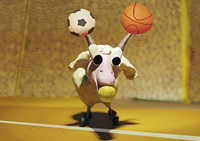 Capricorn: goat playing with balls