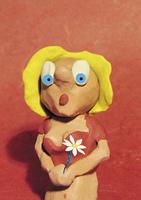 Virgo: blonde with flower