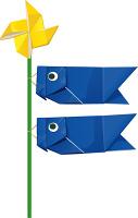 折り紙で作った鯉のぼり