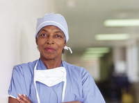 Mature female surgeon posing