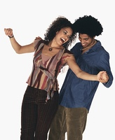 Young African couple dancing