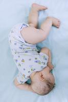 Mixed race baby sleeping