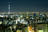 文京区シビックセンター周辺の夜景