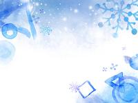 手作業パターンの背景の冬