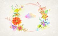 手描きの花のパターン