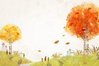 豊かな秋の背景