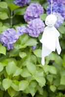 照る照る坊主と紫陽花