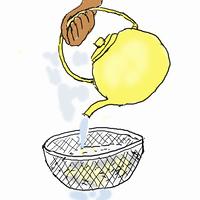 クッパを作る,,冷やご飯のぬめりをとる