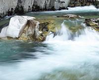 屏風岩と伊南川