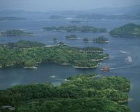 九十九島と遊覧船