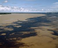 ネグロ川とソリモンエス川の合流,空撮