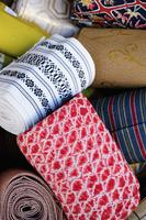 店頭の着物の帯