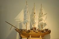 帆船の模型
