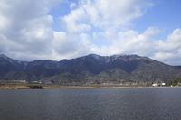 舞子沼と比良山系