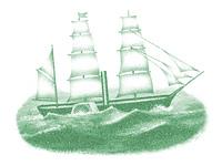 海を航海する黒船