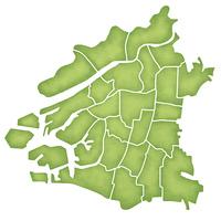 大阪市の境界線入り地図
