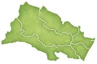 仙台市の境界線入り地図