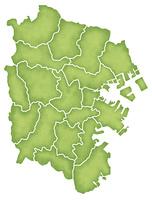 横浜市の境界線入り地図