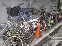 自転車の不法投棄