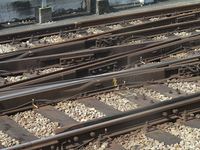 電車のレールのポイント