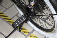 自転車の後輪のステップ
