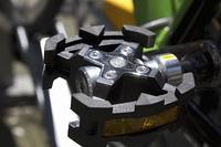 自転車のペダルのアップ
