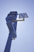 歩行者用の信号機のシルエット