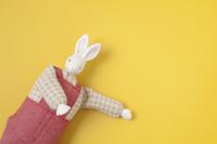 うさぎのクラフト人形