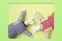 干支のうさぎのクラフト人形