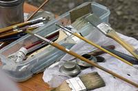 絵画の絵筆