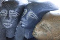 エジプトのファラオの石像
