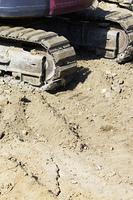 土木工事現場のショベルカー
