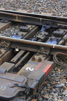 鉄道のレールの切り替えポイント