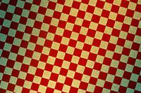 赤と金の市松模様