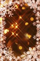 雪の結晶のフレーム